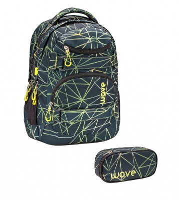 Infinity Rucksack Wave Stripes Green Set 1