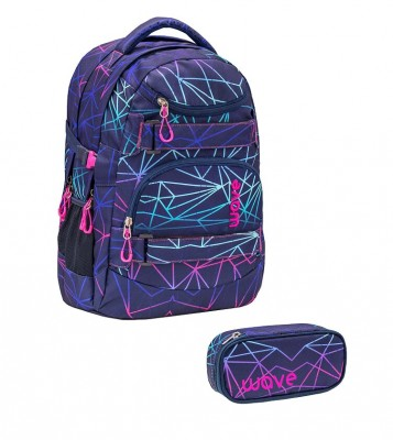 Infinity Rucksack Wave Purple Stripes Set 1