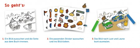 Stickermalbuch Autos