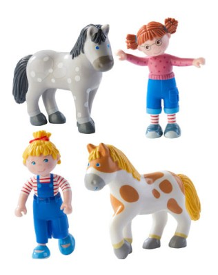 Haba Little Friends Conni und Co. Biegepuppe Freundinnen Set 4 teilig