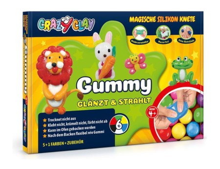 Crazy Clay Modellierknete Gummy Basic Set