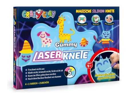 Crazy Clay Modellierknete Gummy Laserknete Set