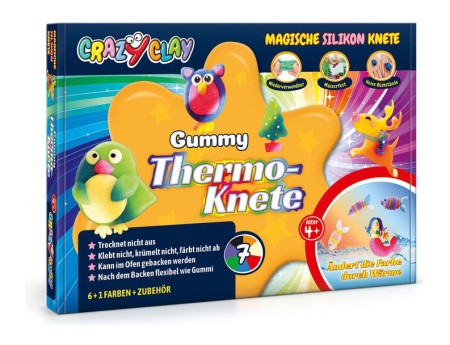 Crazy Clay Modellierknete Gummy Thermoknete Set