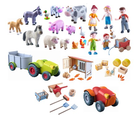 Haba Little Friends Bauernfamilie + Tiere Set 47 tlg.