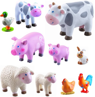 Haba Little Friends Bauernhof Tiere Set 10 tlg.