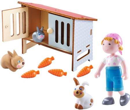 Haba Little Friends Hasenstall Set 9 tlg.