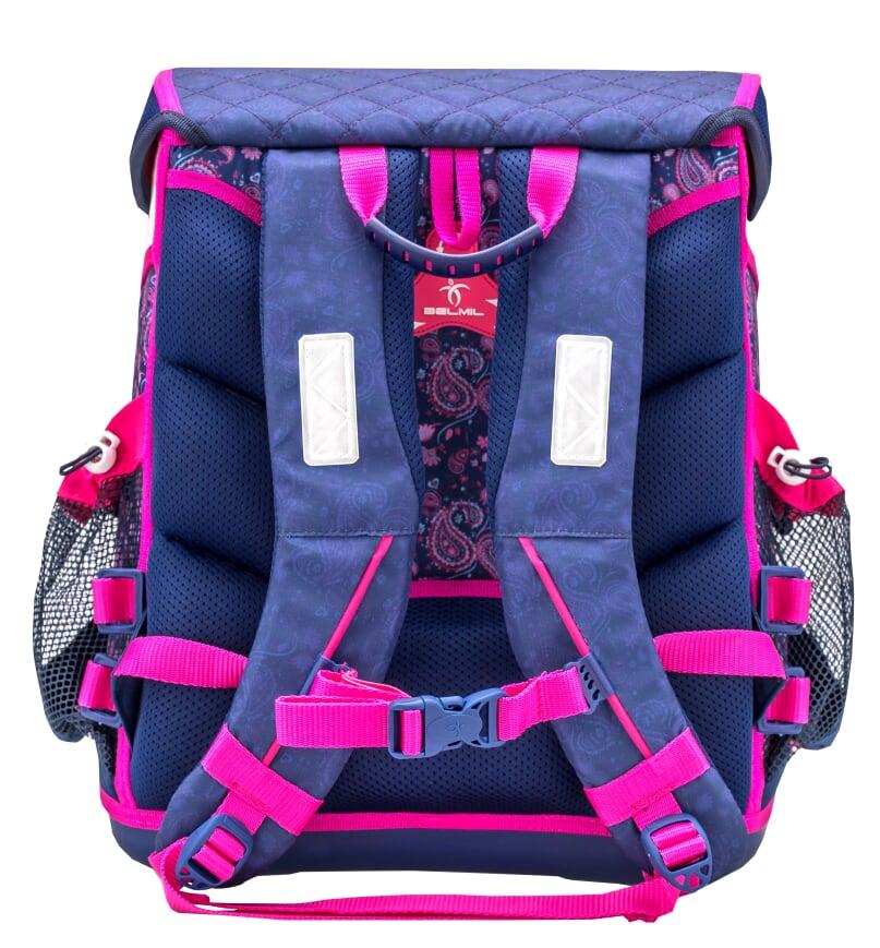 405-42//1 blau BELMiL Schulranzen Cool Bag Blue Riding Horse Set 4 tlg