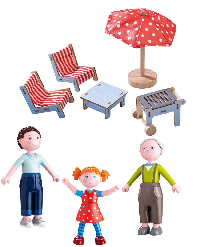 haba little friends puppenhaus m bel spielset g nstig kaufen im online shop. Black Bedroom Furniture Sets. Home Design Ideas
