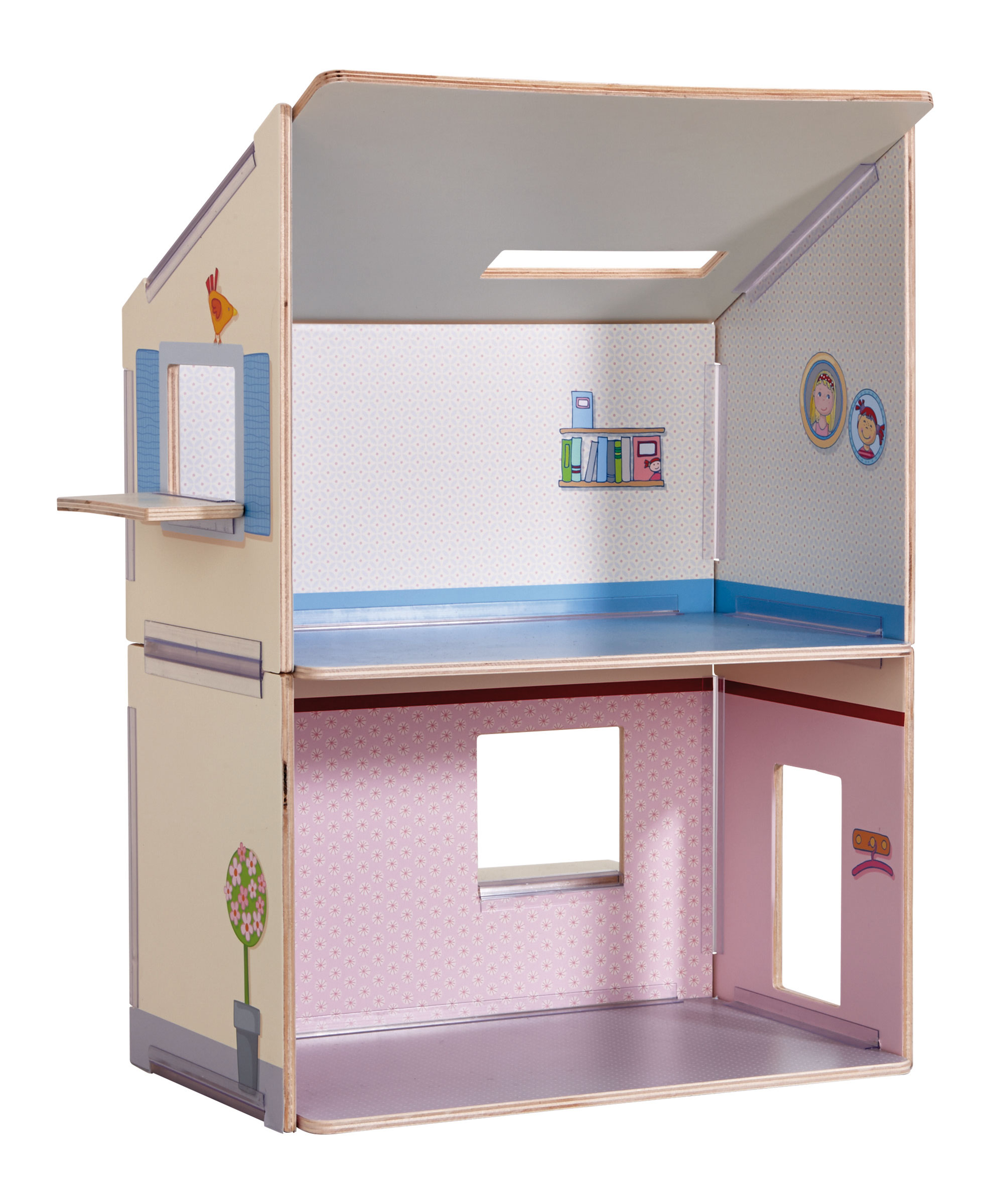haba little friends puppenhaus traumhaus 302172 ebay. Black Bedroom Furniture Sets. Home Design Ideas