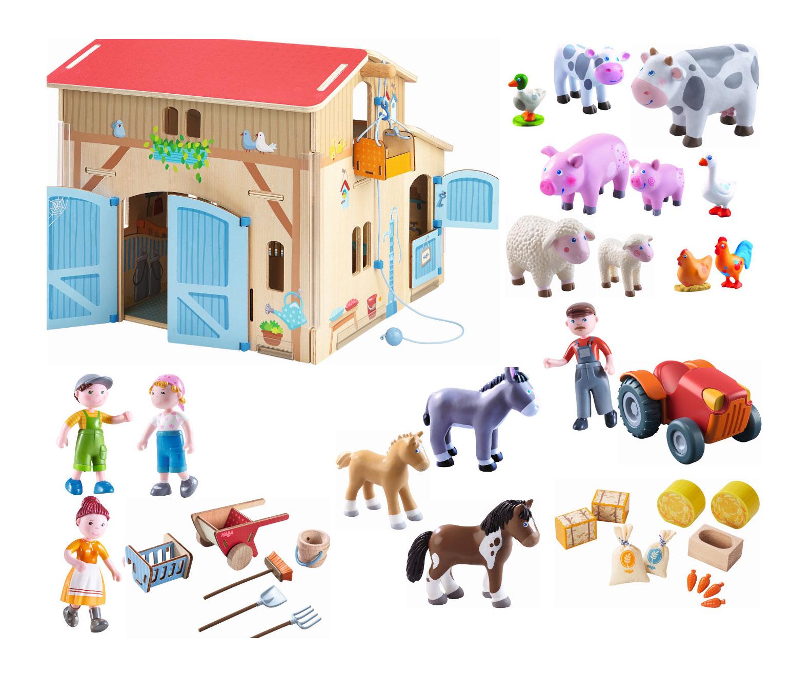 Haba Little Friends EselBauernhoftiere zum SpielenBauernhof Spielzeug Kleinkindspielzeug