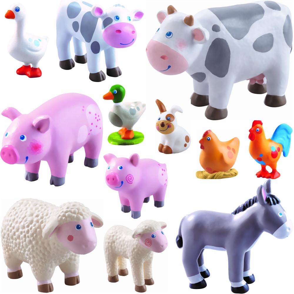 HABA 302979 Little Friends Kleinkindspielzeug Kuh