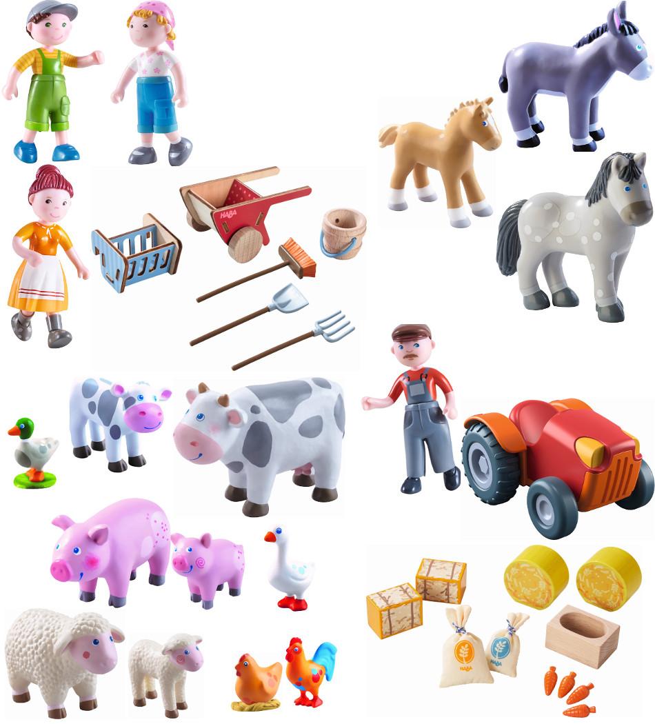 Kleinkindspielzeug Haba Little Friends EselBauernhoftiere zum SpielenBauernhof Spielzeug