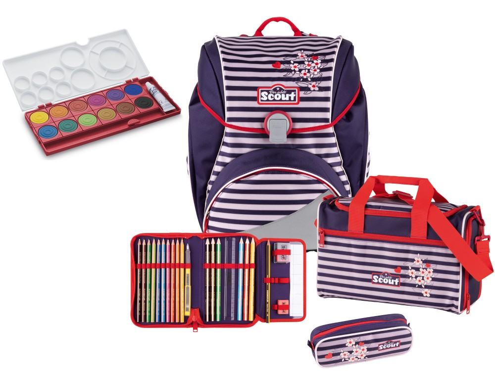 Scout Alpha Happy Stripes Set 4 teilig + Gratis Farbkasten