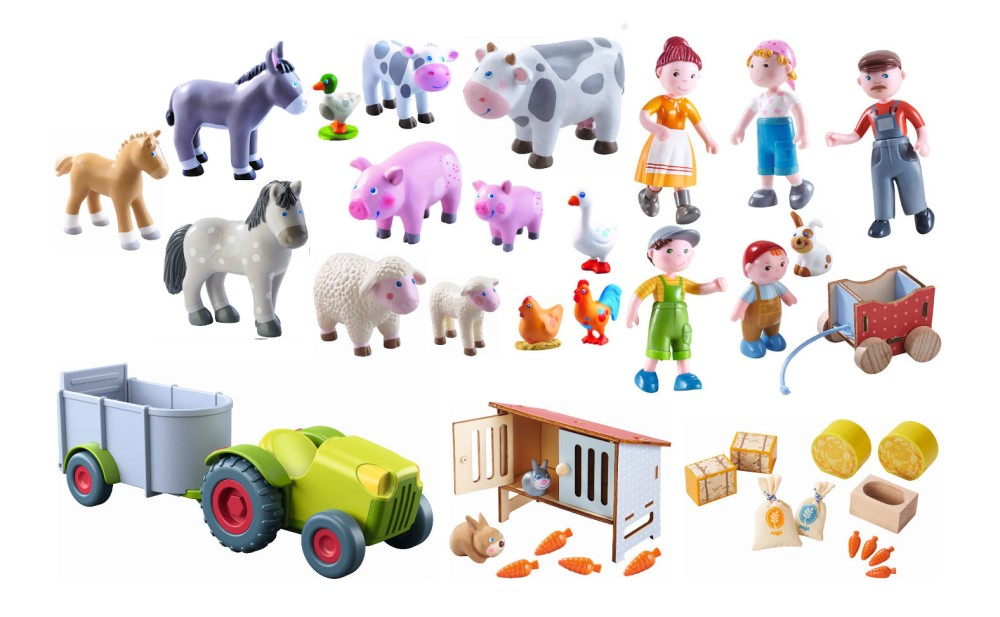 Haba Little Friends Bauernfamilie Set